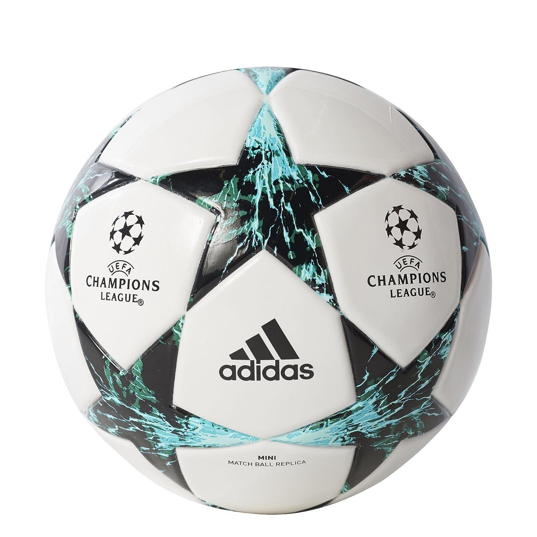 adidas サッカーボール パフォーマンス チャンピオンズリーグ フィナーレ キャピターノ B01MQUH4Y3White/Core Black/Dark Green/Blue/Aqua 5