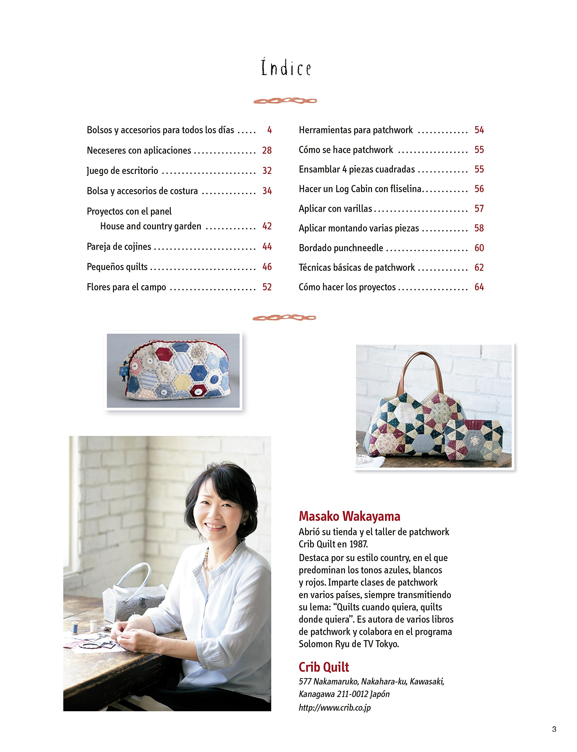 Accesorios de Patchwork para todos los días: MASAKI MAKAYAMA: 9788498745542: Amazon.com: Books