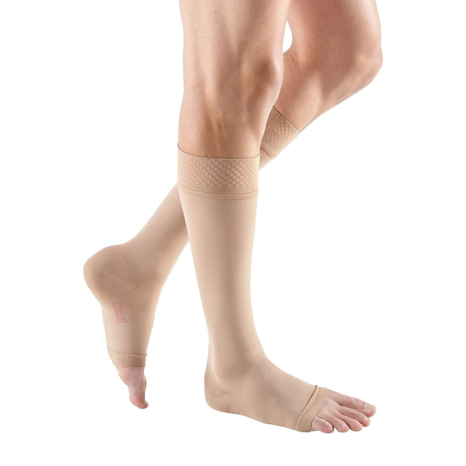 Mediven Forte Knee-High Stockings, Extra Wide, Open Toe, Silicone Top Band, 40-50mmHg, VII, Beige, MDV37607 by Mediven B001ANZJ16