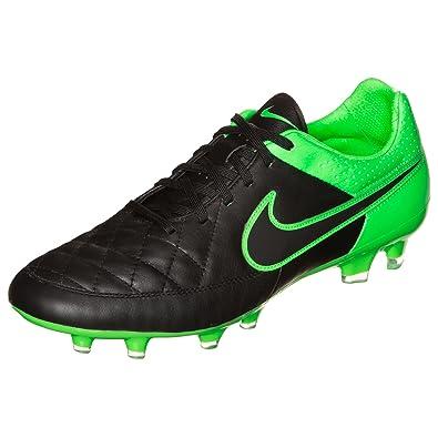 Nike Tiempo Legacy FG Soccer Cleat Black Green Strike Sz 65