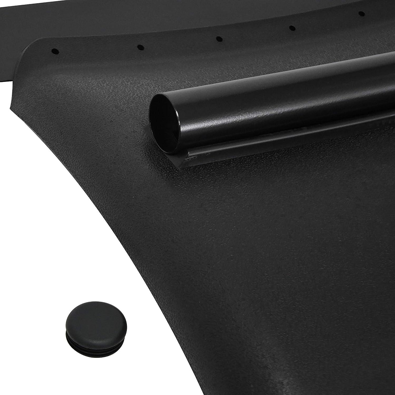 FAYUE Black Plastic Quarter Fender Set 24 x 24 Semi Truck