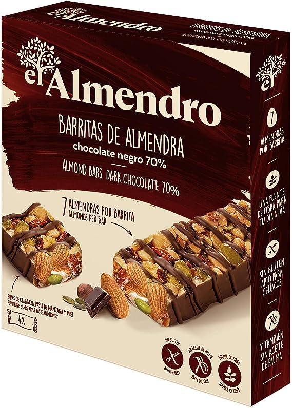 El Almendro - Barritas de Almendra y Chocolate Negro 70% - 4x25 gr ...