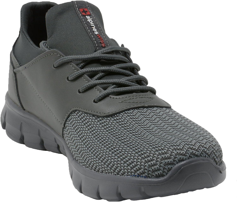 alpine swiss Leo Men Sneakers Flex Knit Tennis Shoes Casual Athletic Lightweight