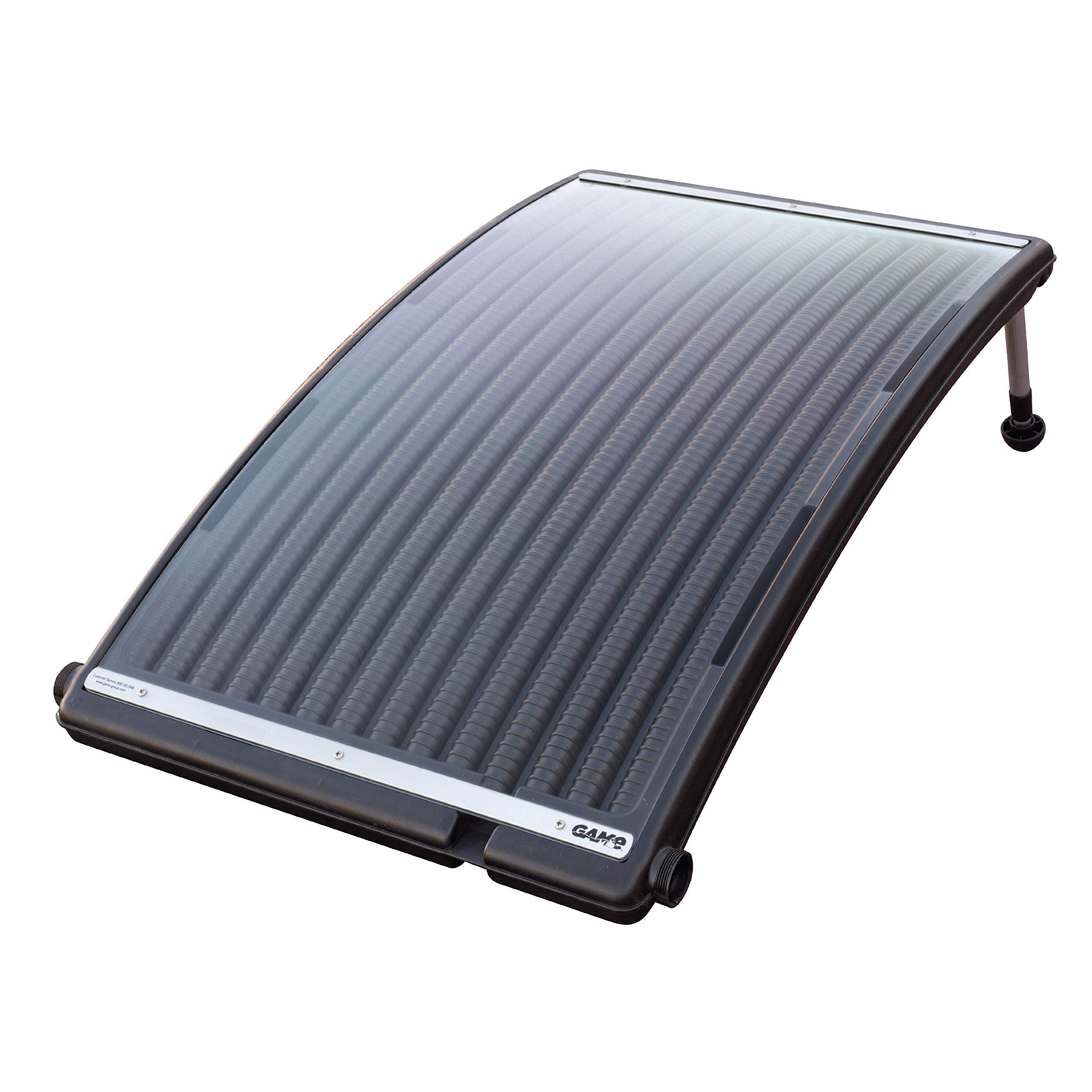 GAME 4721-BB SolarPRO Curve Solar Pool Heater, Made for Intex & Bestway Above-Ground and Inground Pools, Includes Intex Adapters, 2 Hoses & Clamps (Renewed) by GAME