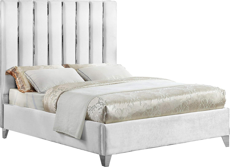 Amazon.com: Meridian Furniture EnzoWhite-K Enzo Collection ...