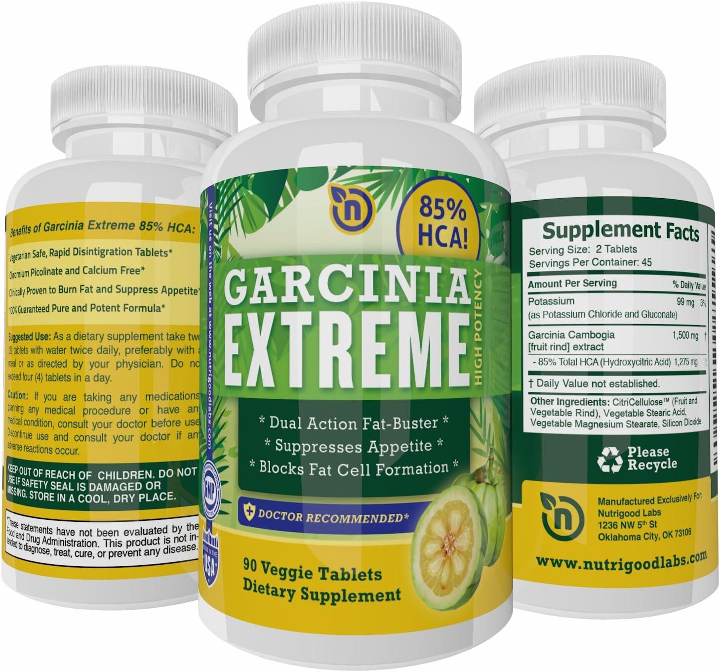 Amazon Com 85 Hca Garcinia Cambogia Extract Pure Garcinia