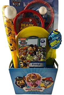 Amazon paw patrol easter basket toys and candy toys games prefilled boy paw patrol easter gift basket with fun toys no sugar negle Image collections