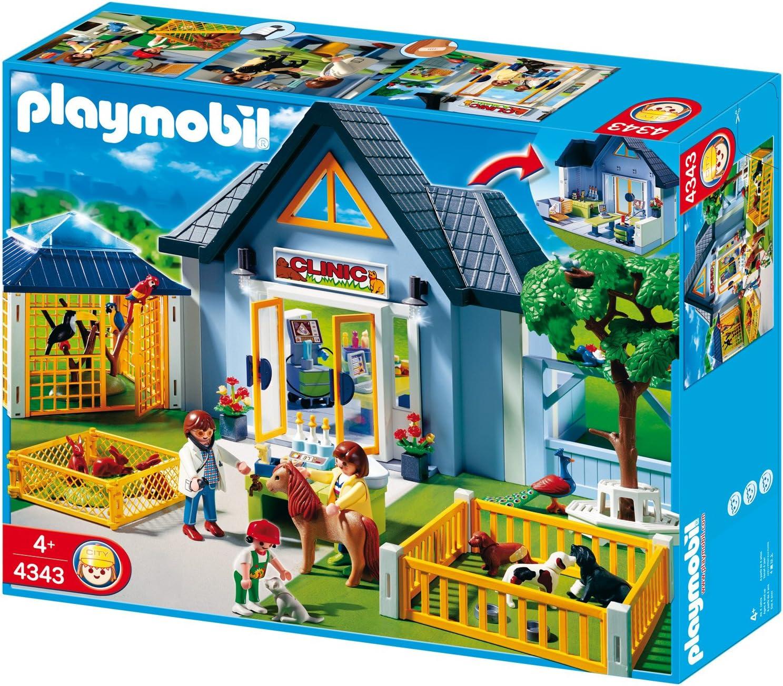 PLAYMOBIL - Clínica Veterinaria, Set de Juego (4343): Amazon.es ...