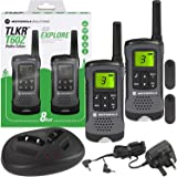 Motorola TLKR T60Z Walkie Talkie Radio with Charging Dock - Twin Pack
