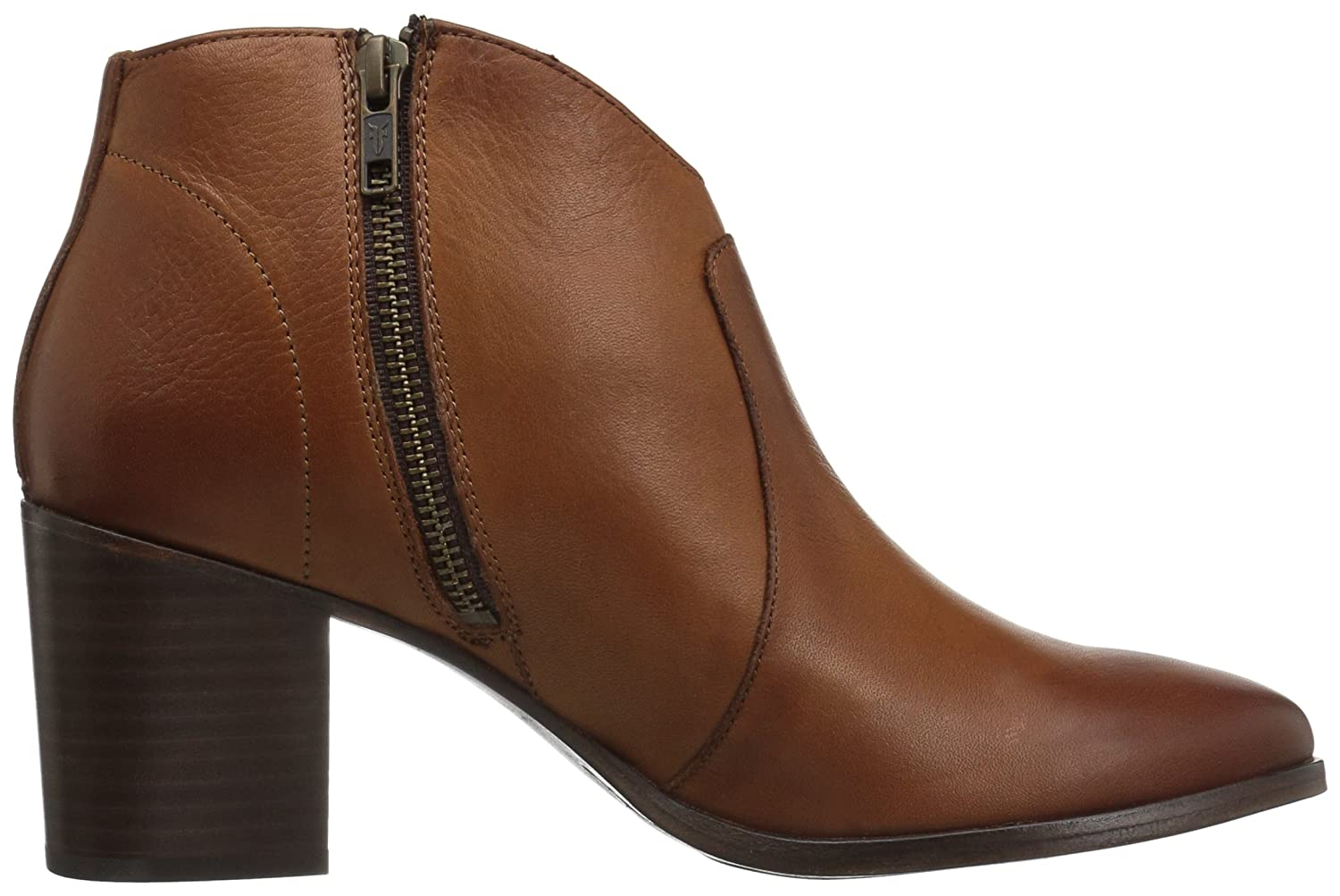 FRYE Women's Nora Zip Short Ankle Boot B072MSP5L6 11 B(M) US|Nutmeg