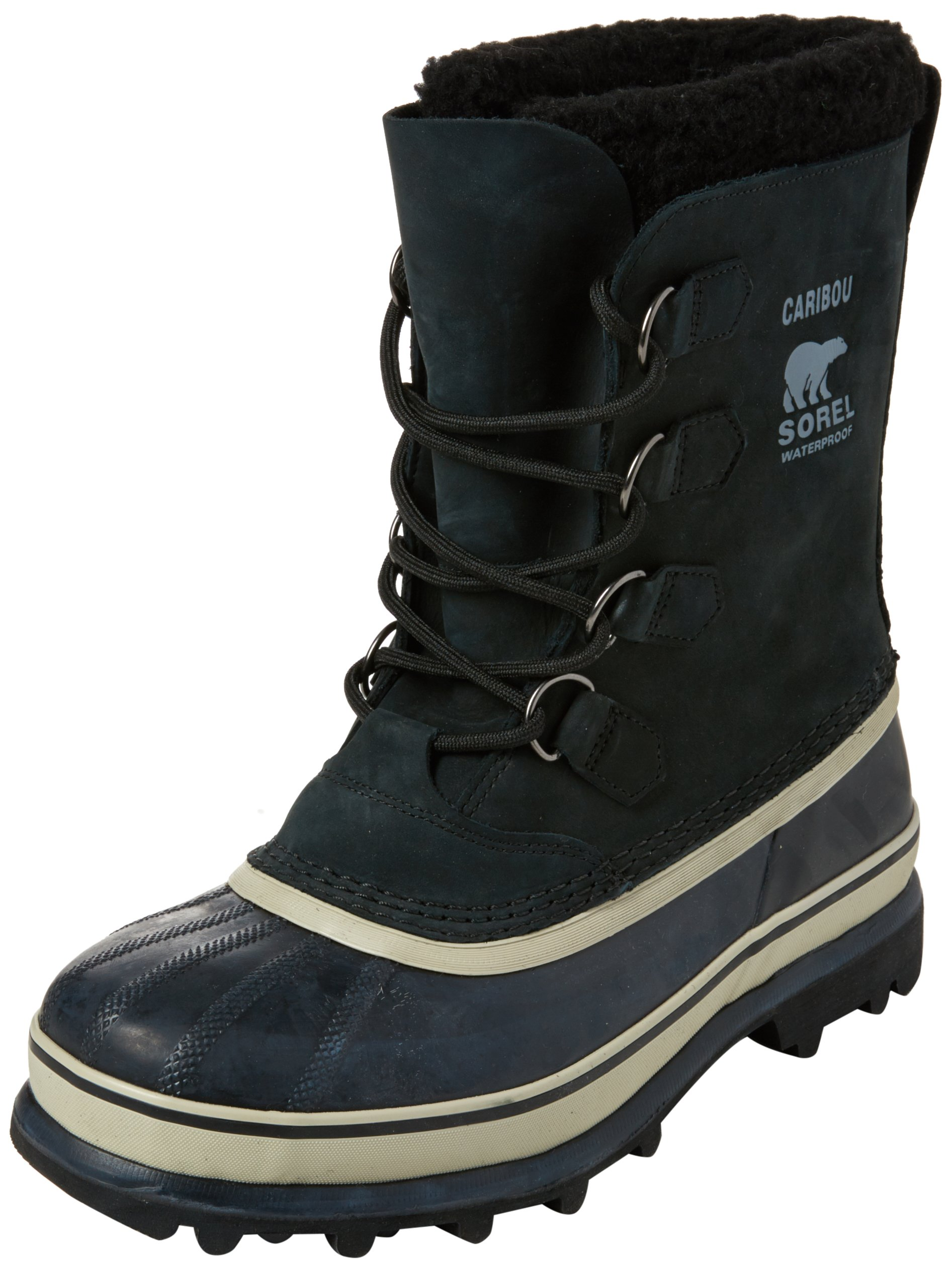SOREL Men's Caribou NM1000 Boot,Black/Tusk,8 M by SOREL