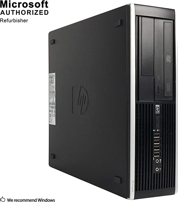 HP Compaq Pro SFF Business PC,AMD A6-5400B 3.6G, 12G DDR3, 2T HDD, DVDRW, WiFi, BT 4.0, VGA, DP, Win 10 64 Bit-Multi Language (Renewed)