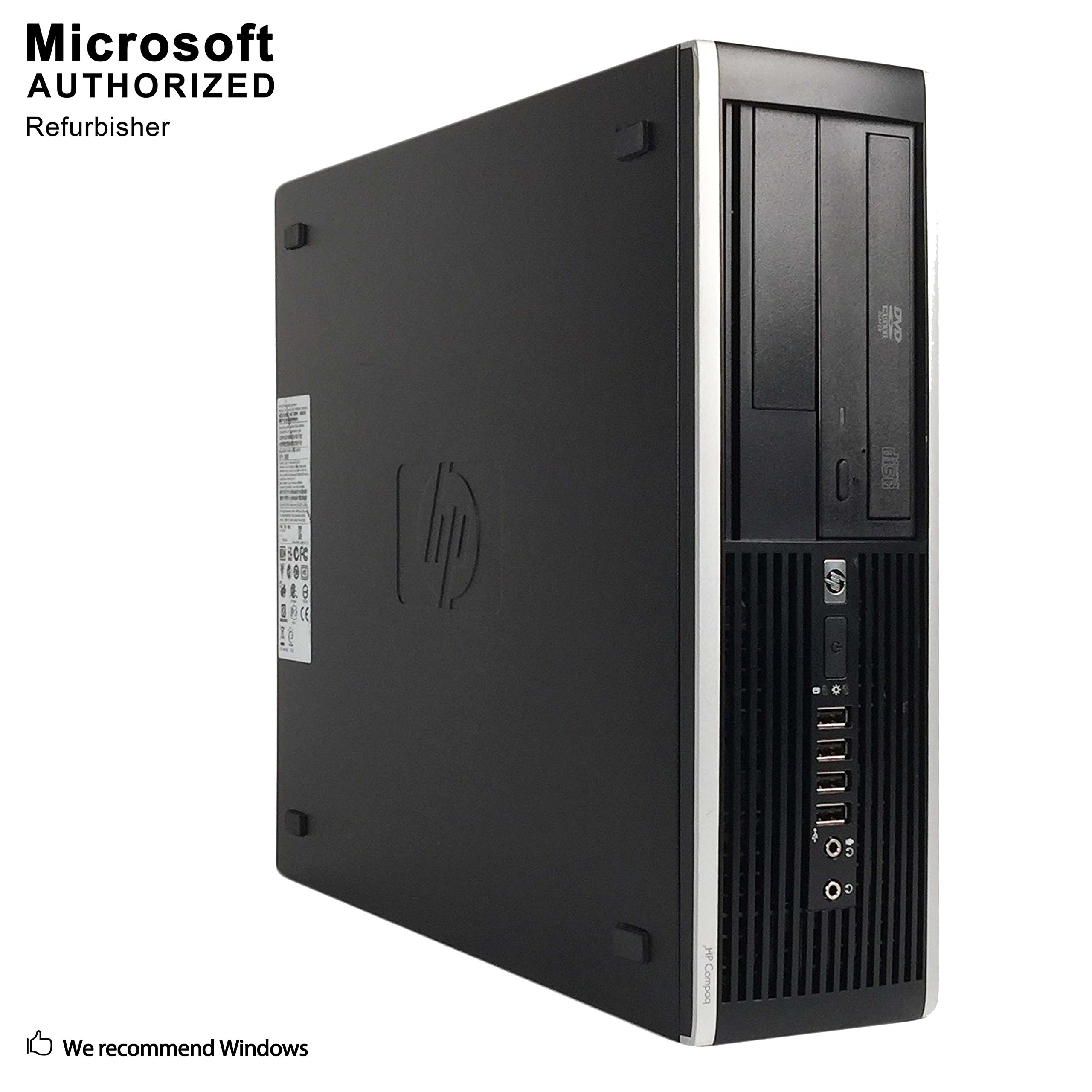HP 6300 Pro Small Form Factor Business Desktop Computer, Intel Quad Core i5-3470 3.2GHz Processor , 8GB DDR3 RAM, 500GB HDD, DVD, USB 3.0, VGA, Windows 7 Professional (Certified Refurbishd)