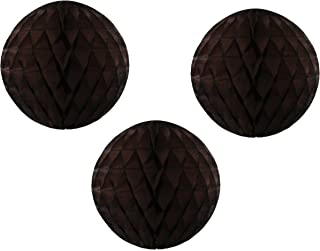 product image for 3-pack 5 Inch Honeycomb Tissue Paper Balls (Brown)