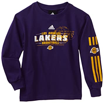 Outerstuff NBA Los Angeles Lakers Camiseta de manga larga banco Shot - r8 a26psla juventud, Infantil, morado: Amazon.es: Deportes y aire libre