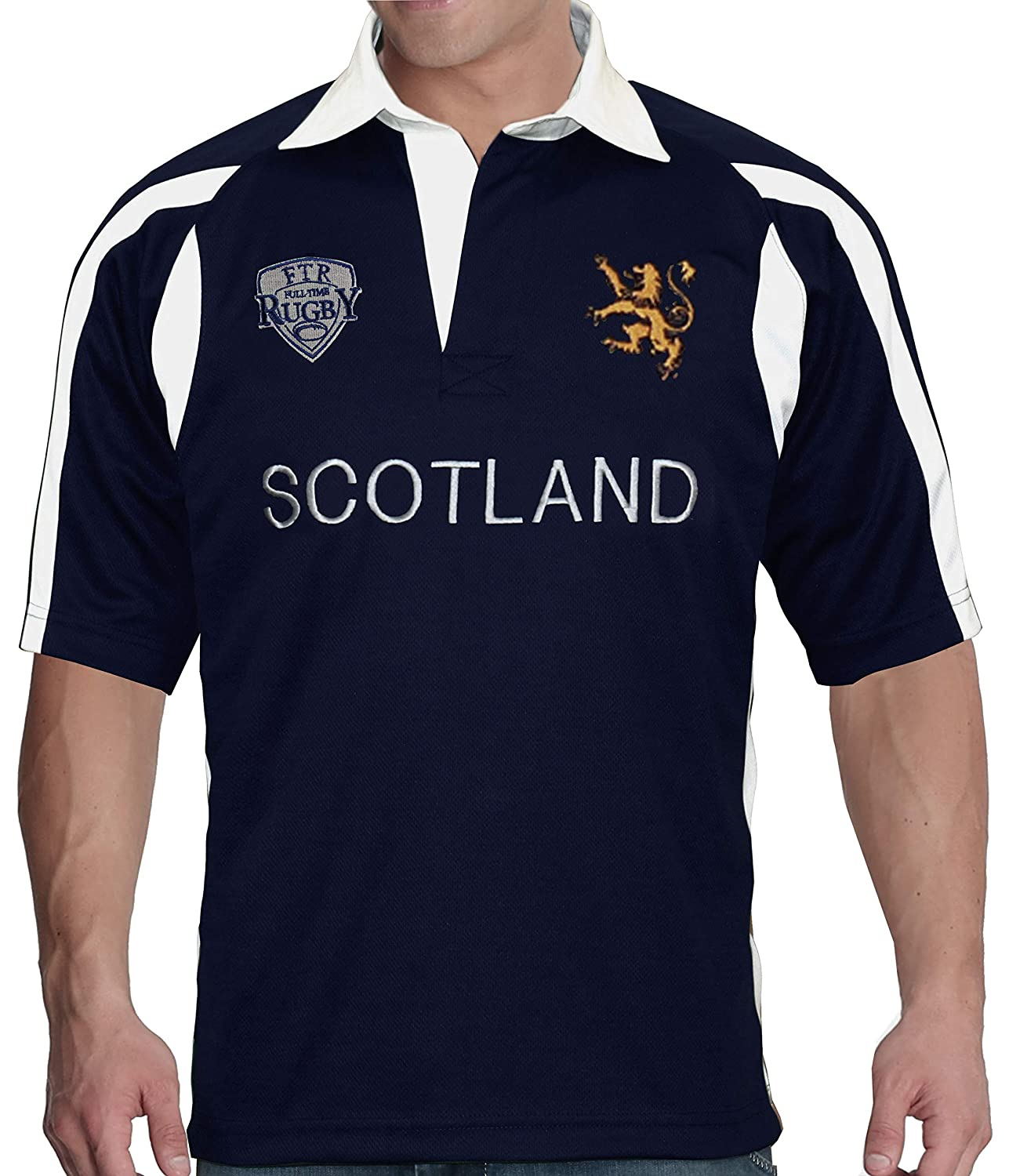 Full Time Sports Mens Scotland Rugby Shirt: Amazon.es: Ropa y ...