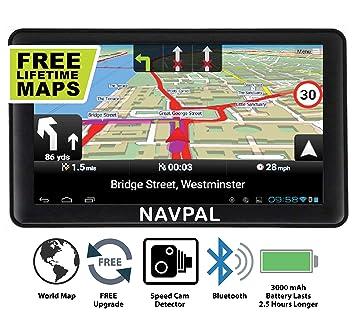 Navval - Navegación GPS de 7 Pulgadas con WiFi 4G de 8 GB para Coche, camión, Autocaravana con mapas del Mundo 2019 y actualizaciones de por Vida: ...