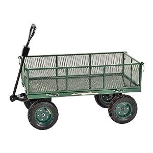 "Sandusky Lee CW4824 Muscle Carts Steel Utility Garden Wagon, 1000 lb. Load Capacity, 21-3/4"" Height x 48"" Length x 24"" Width"