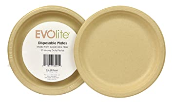 Disposable Plates Sugarcane Compostable Tree Free Bagasse Eco Friendly 9