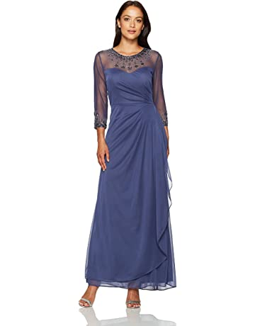 6318a23c148f Alex Evenings Women's Long A Line Illusion Sweetheart Neck Dress (Petite and  Regular)