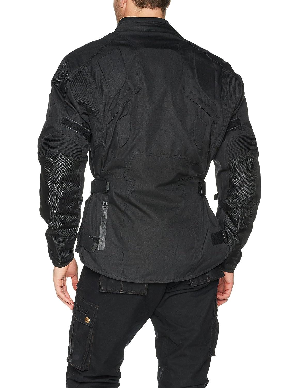 Bikers Gear UK The INFINITY EN COULEUR NOIR superbe Blouson d/ét/é avec poches zip /étanches et protections certifi/ées