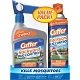 Cutter HG-65744 Backyard Bug Control Combo Pack, with Outdoor Fogger & Hose-End Spray