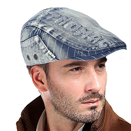 078972e583f UNIQUEBELLA Adjustable Newsboy Cap Ivy Flat Hat Gatsby Golf Driver Beret  Caps for Men   Women