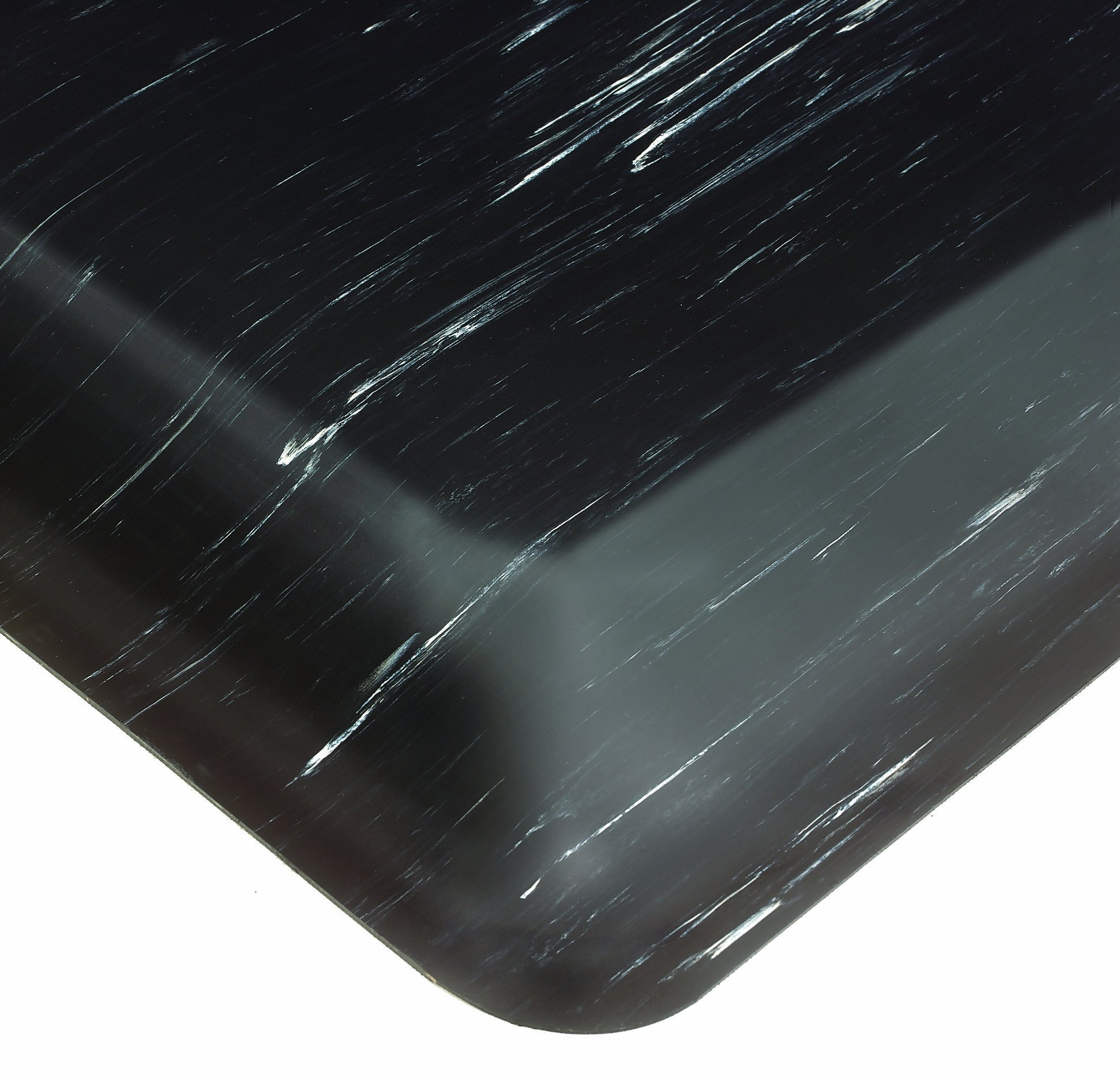 Wearwell PVC 494 Tile-Top Select Medium Duty Anti-Fatigue Mat, Safety Beveled and Rounded Edges, for Dry Areas, 2' Width x 3' Length x 7/8'' Thickness, Black