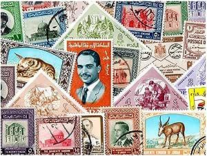 pghstamps Jordán 25 Colección de Diferentes Sellos para ...