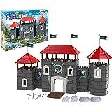 Ckolb Mon Chateau 1 Medieval Castle 1001 Building Block Kit (289 Pieces)