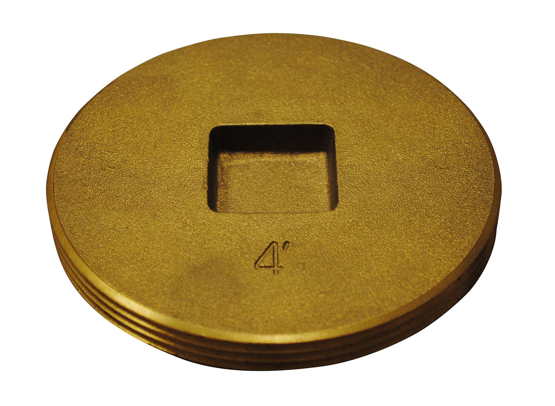 Oatey 42745 Brass Cleanout Plug, 4-Inch