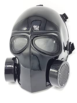 Máscara de airsoft ejército de dos protectora Gear deportes al aire libre Fancy Party máscaras BB