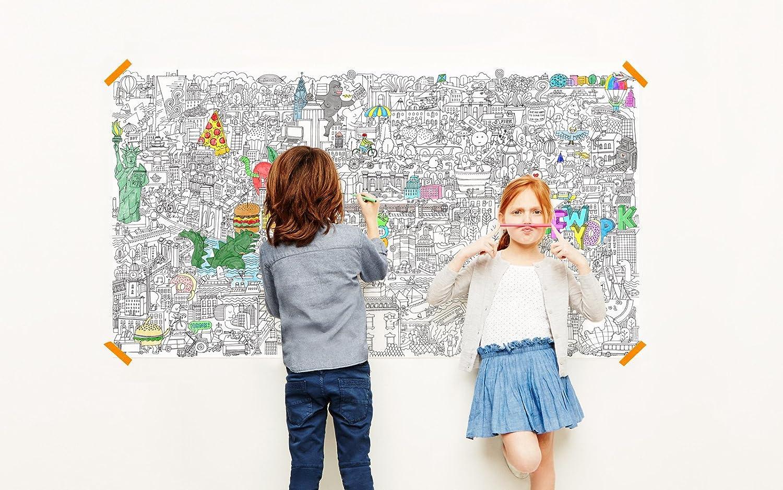 "Pirasta NYC Really Big Coloring Poster 63"" x 36"" - Big Apple"