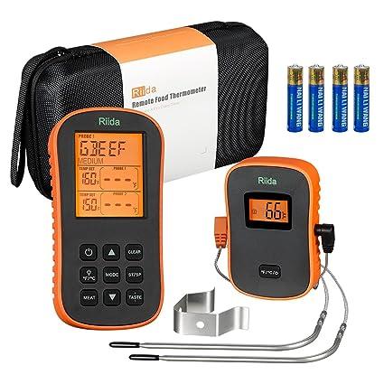 Riida Termómetro Inalámbrico para carne TM08, Herramienta de cocina para el control de temperatura en
