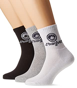 Jhayber 17247-1 Calcetines, Blanco-Gris-Negro, 39-