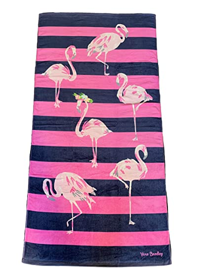 ebdceee138b2 Amazon.com  Vera Bradley Flamingo Fiesta Beach Towel 33