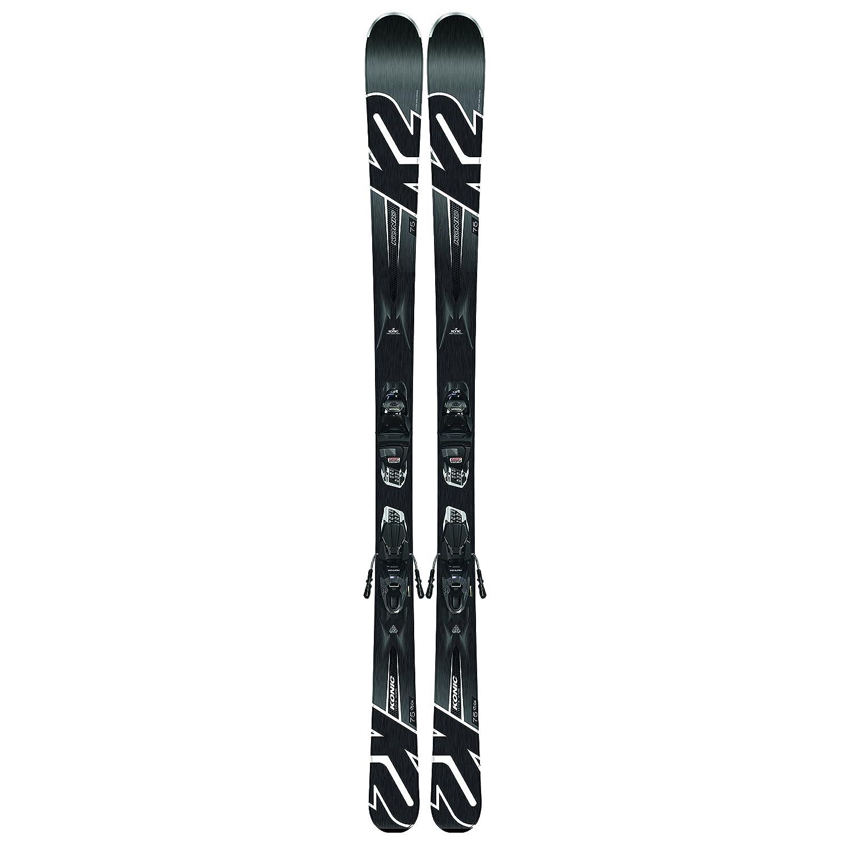 K2 Skis Herren Ski Set Konic 75 inkl. Bindung Marker M2 10 Quikclik schwarz-anthracite  Rockerski Rocker Carving Skifahren Alpinski