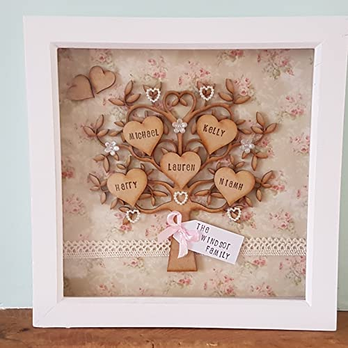Family tree frames (Shabby Chic, Floral, Wooden, Deep box Frames ...