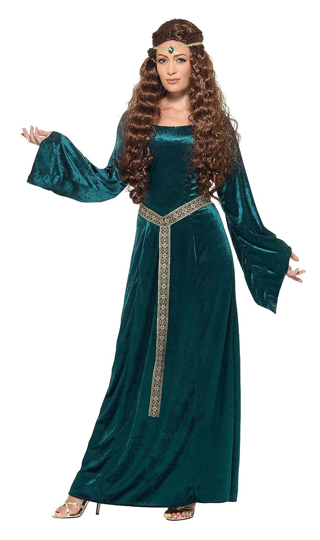Smiffys Disfraz de Doncella Medieval, Verde, con Vestido y Diadema: Amazon.es: Juguetes y juegos