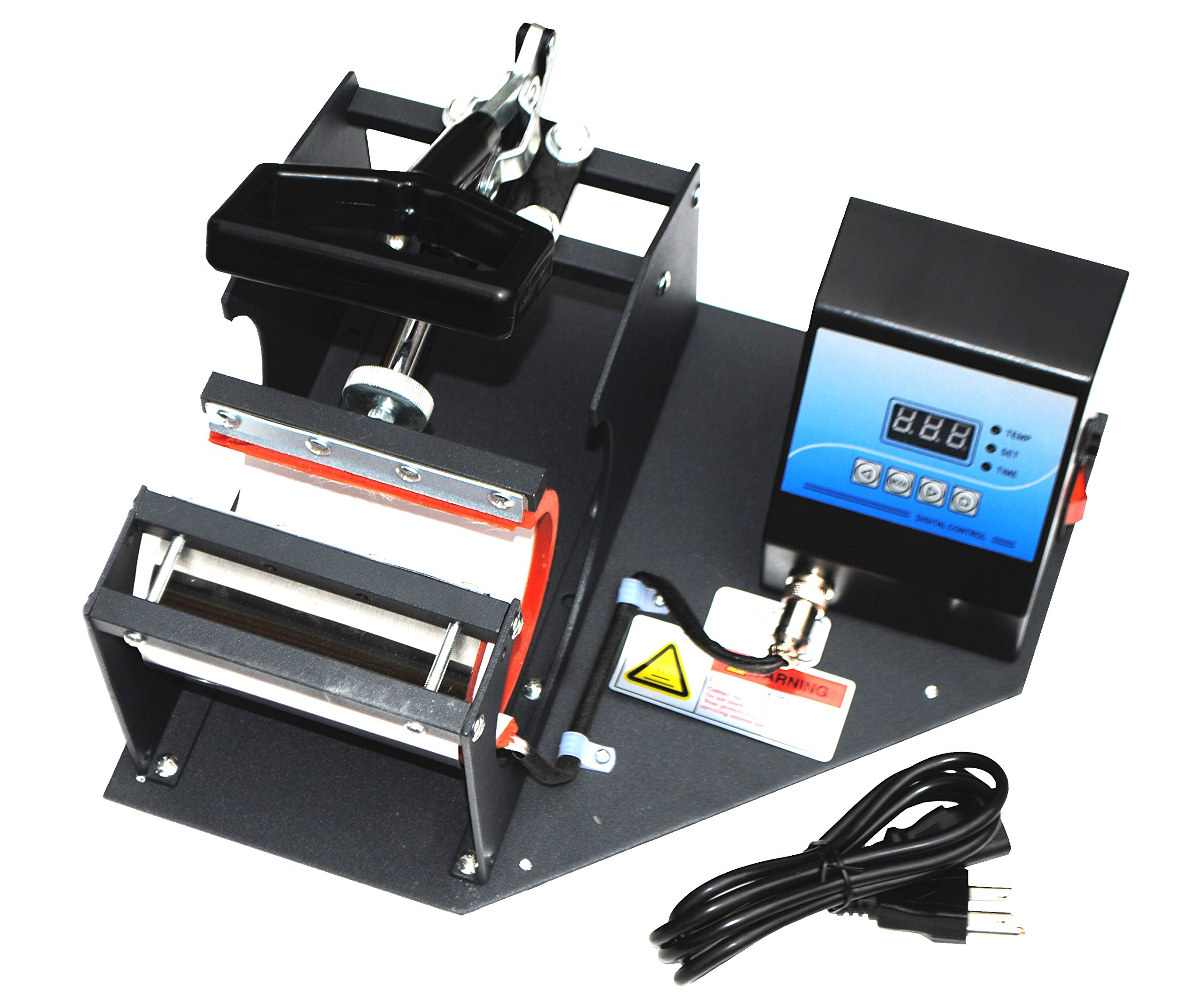 Sican Black Coffee Cup Mug Heat Sublimation Press Transfer Printing Machine by Sican
