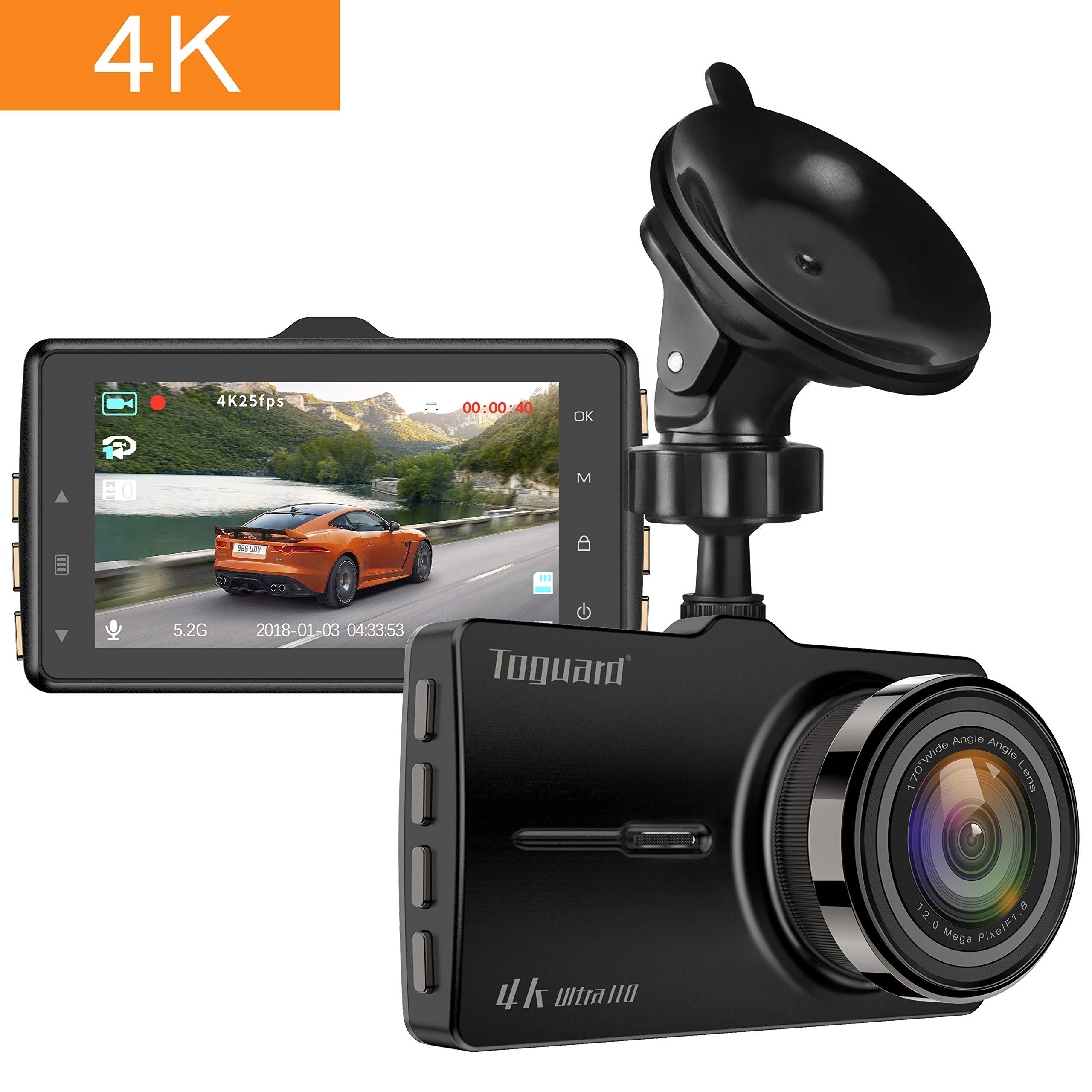 TOGUARD Dash Cam 4K en el automóvil Cámara de auto Ultra HD Cámara de video de