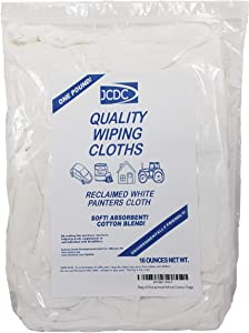 bag of reclaimed white cotton rags