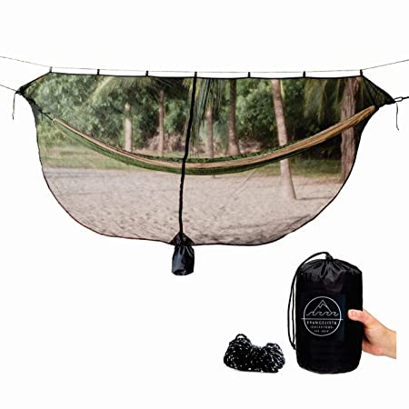 Evangelista Outfitters Hammock Mosquito Net 11 2 x 4 6 Bug Mosquitos Net fits All Camping Hammocks. Dense Mesh Provides Security. Compact, Lightweight, Easy Setup