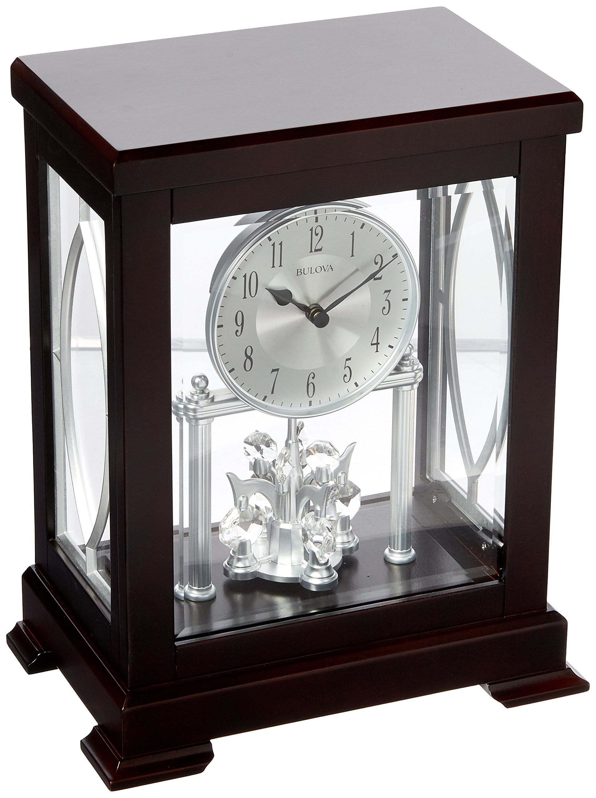 Bulova Empire Anniversary Mantel Clock, Brown by Bulova