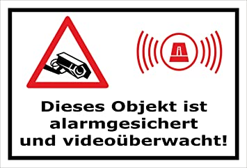 Melis Folienwerkstatt Aufkleber Objekt Video überwacht 15x10cm S00348 017 A 20 Var