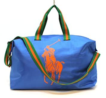 RALPH LAUREN fragrances big pony bag blue with orange logo duffle bag gym  bag   e19fcf24ee904