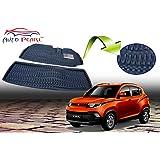 Auto Pearl 3D Car Foot Mat for Mahindra KUV 100 (Set of 2, Black)