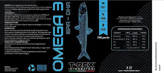 OMEGA 3 150 Perlas Blandas Aceite de Pescado de 710 mg (EPA 18% DHA ...