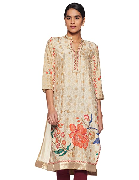 W for Woman Women's Straight Kurta Kurtas & Kurtis at amazon