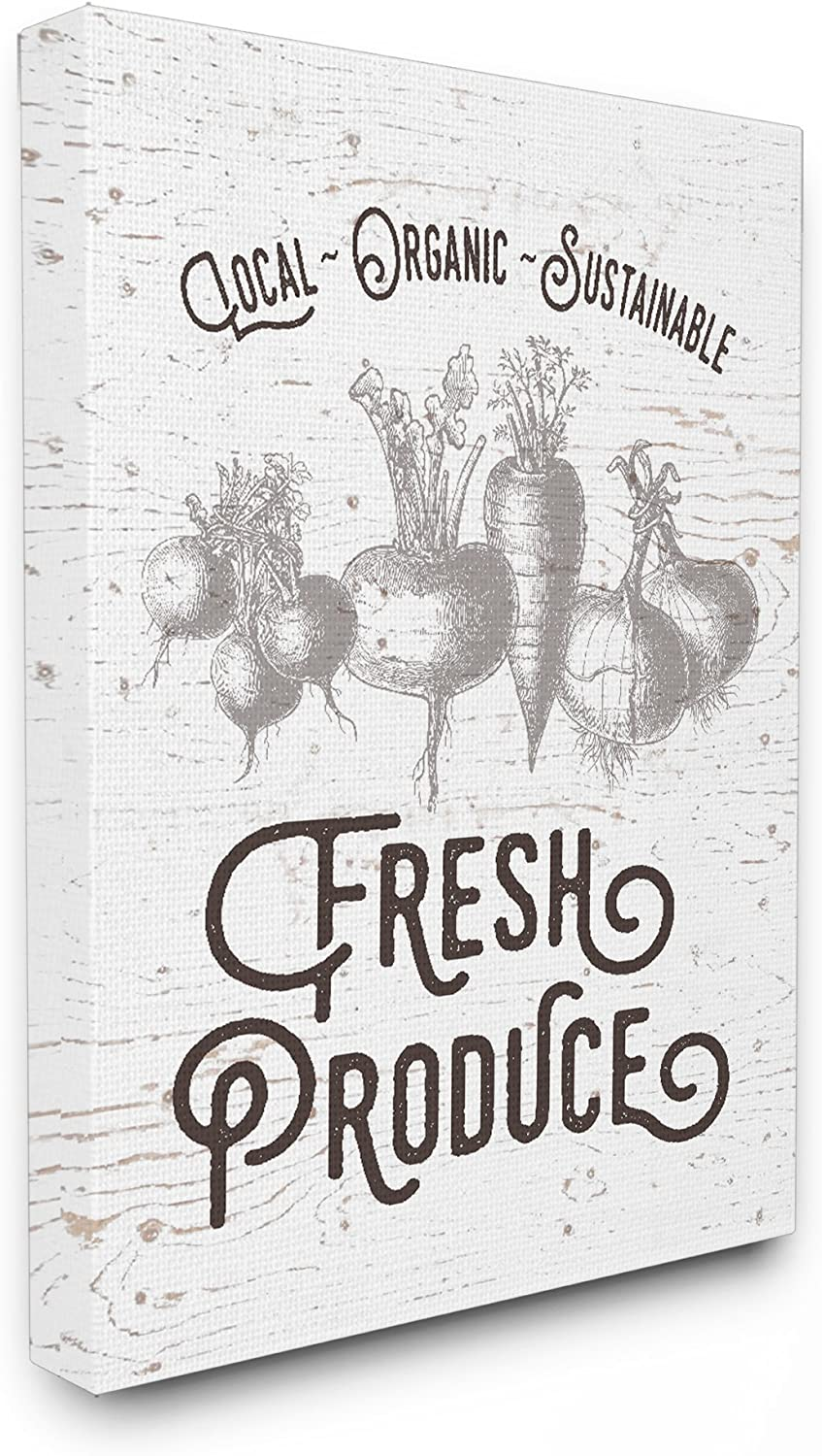 Stupell Industries Fresh Local Produce Typography Canvas Wall Art, 24 x 30, Multi-Color